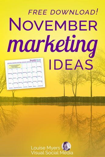 31 November Marketing Ideas You Need Now: FREE PDF!
