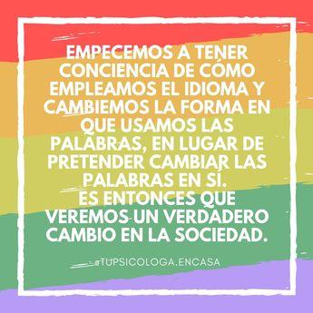 Empecemos a tener conciencia de cómo empleamos el idioma y cambiemos la forma en que usamos las palabras, en lugar de pretender cambiar las palabras en sí. Es entonces que veremos un verdadero cambio en la sociedad. ¿Vosotros que pensáis del lenguaje inclusivo?                        #LenguajeInclusivo #ConE #Humanidades #Política #Noallenguajeinclusivo #argentina #mexico #sustentabilidad #fundaciones #voluntariado #laborsocial #voluntarios #psicologia #hablemosde #PsicologiaPorAmor