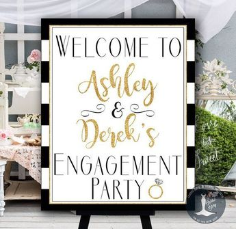 Image result for engagement party signs