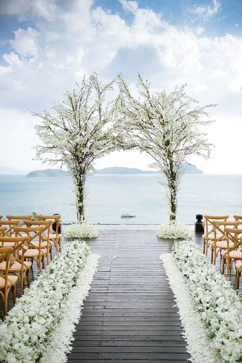 Wedding ceremony. Choosing a place for the wedding ceremony is equally as crucial as deciding on the reception site.