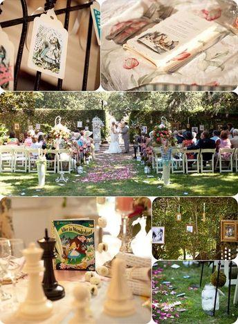 Classic Alice in Wonderland Inspired Wedding Decorations