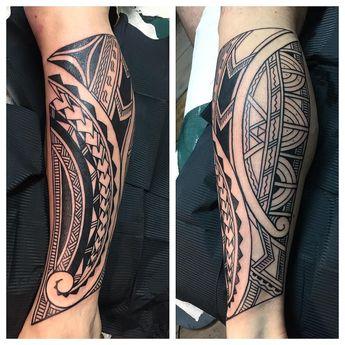 Made a start on Jason's Polynesian leg today #polynesiantattoos #polynesiantribaltattoos #tribaltattooers #eastbournetattoos #higginsandcotattoo #brightontattoo #blackwork@higginsandco #Maoritattoos