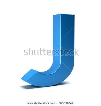 J Letter Icon. 3D Render Illustration