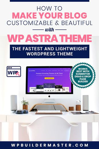 WP Astra - The Best Theme for Elementor | Configuration 2019