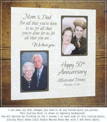 50th Anniversary Gift, Golden Anniversary, Fifty Years of