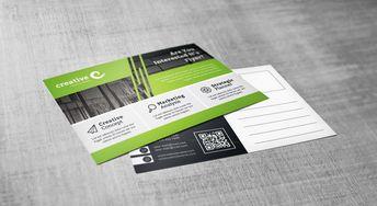Demeter Stylish Creative Corporate Postcard Template - Graphic Templates