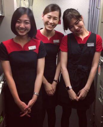 【Hong Kong】 Dragon Air cabin crew / 香港ドラゴン航空 客室乗務員 【香港】