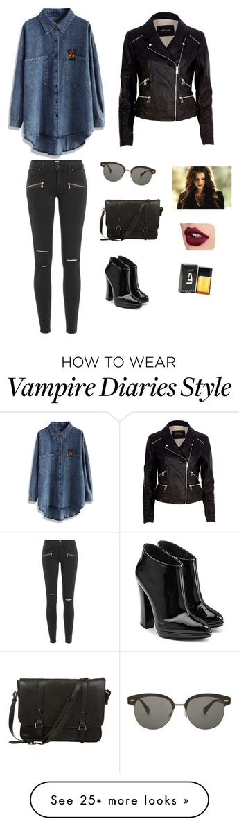 """""""Untitled #712"""" by francyrizzo on Polyvore featuring Chicwish, Paige Denim, Giuseppe Zanotti, River Island, Oliver Peoples, Daines & Hathaway and Azzaro"""