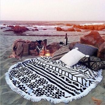 Geometric Microfibre Beach Towel