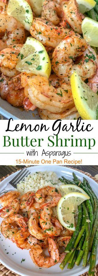 Lemon Garlic Butter Shrimp with Asparagus