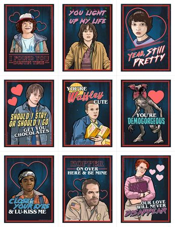 Stranger Things Valentine's Day Card Pack