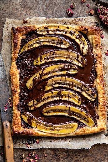 Warm Chocolate Banana Galette