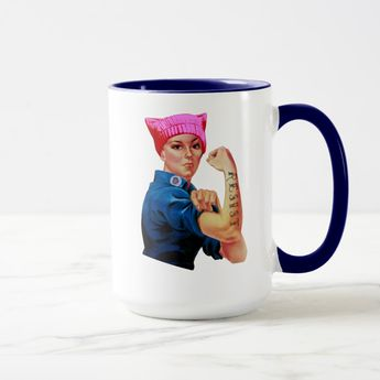 Rosie the Riveter Resists Trump Mug