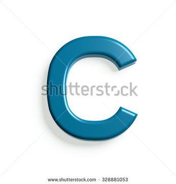 C Letter 3D style