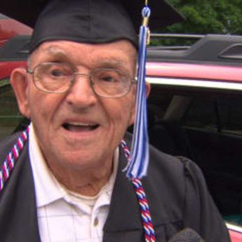 94-year-old WWII vet finally gets high school diploma