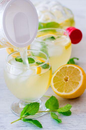 Citronnade maison ou limonade au citron