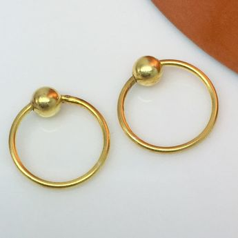 Wire Hoop Earrings Yellow Aur Blast Men S Thin Gold