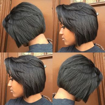 """""""STYLIST SPOTLIGHT: when your bob cut is extra tight, you gotta lean with it for the 'gram   styled by @sorayahstyles  #hair #hairinspiration #hairstylist…"""""""