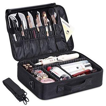 HAITRAL Makeup Bag,Professional Makeup Case Travel Kit Organizer Waterproof Cosmetic Case for Girls
