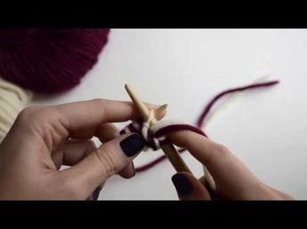 Comment tricoter en double