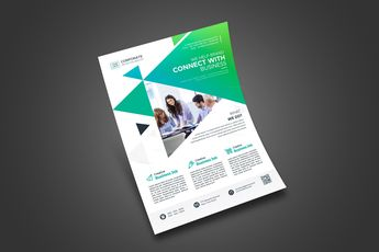 Print Modern Flyer Design - Graphic Templates