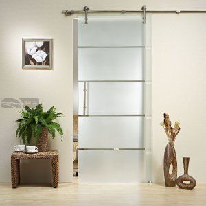 Modern Stainless Steel Glass Sliding Door Fitting Set With