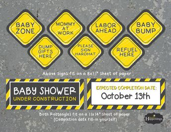 Construction Baby Shower Decorations To Match Our Construct