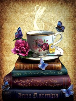Tea and Books Jigsaw Puzzle: Butterfly Gifts & Collectibles: FairyGlen.com