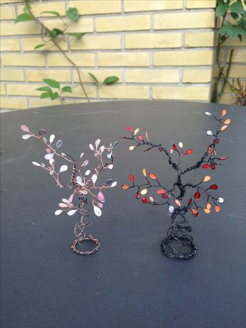 I make the wire trees and wire nail polish flowers and I have never thought of this!