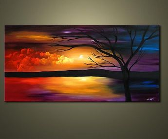 abstract tree paintings art