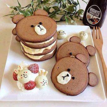 Kawaii rilakumma pancakes