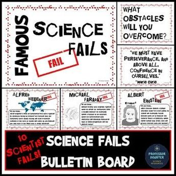 Science Bulletin Board Famous Scientist Fails and Back to School