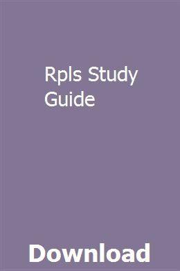Rpls Study Guide pdf download