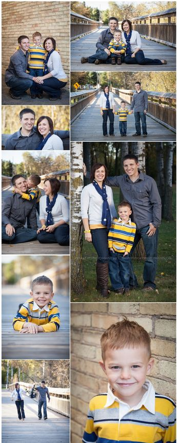 This family had the perfect wardrobe for fall portraits! Mom's navy scarf and yellow bracelet were small accents that helped pull everything together. What to Wear. Family of 3. Lifestyle Portrait Photographer. Central Wisconsin. www.studio455photography.com