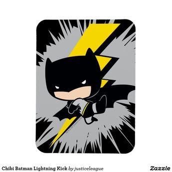 Chibi Batman Lightning Kick Magnet   Zazzle.com