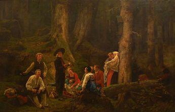 """Gustave Brion """"The Pilgrims of Saint Odile"""" 1863 (Musée Unterlinden, Colmar, France)"""