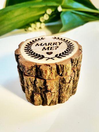 Engagement Ring Box Red Pine