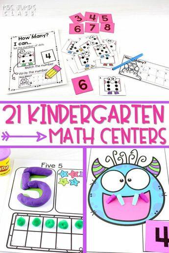 21 Kindergarten Math Centers to Practice Numbers to 10