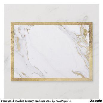 Faux gold marble luxury modern wedding reception enclosure card | Zazzle.com