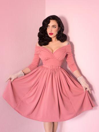 Starlet Swing Dress in Rose Pink