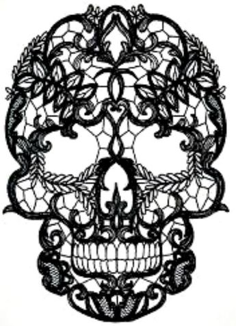 Details about 20 new water slide nail art transfer nail decal black lace sugar skull Trending