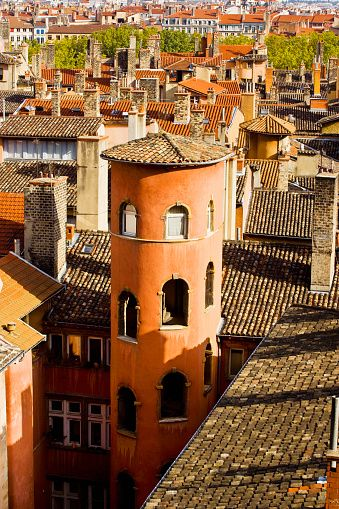 Towers and Roofs in Old Lyon