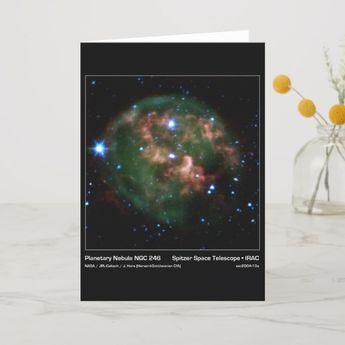 Planetary Nebula NGC 246 - Spitzer Space Telescope Card
