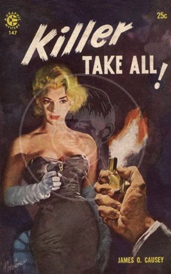 Killer Take All - 10x16 Giclée Canvas Print of a Vintage Pulp Paperback Cover