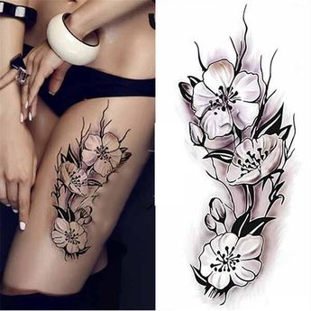 614026a4a Buy 1 Sheet Waterproof Temporary Tattoo Sticker Plum Blossom Design DIY  Body Art Tattoo Decal at