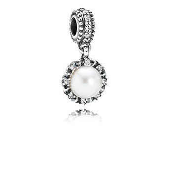 PANDORA   Grâce éternelle, perle blanche et cz incolore