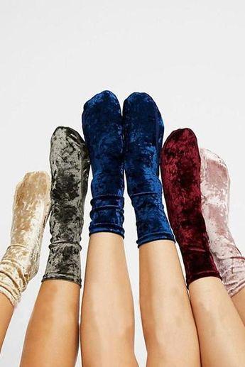 Terry Velvet High Socks