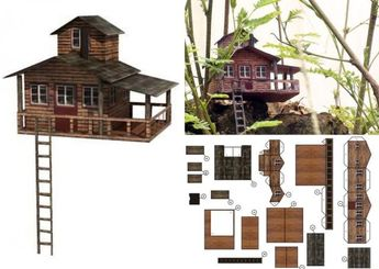Tree House Paper Model In 1/100 Scale - by Paper Replika