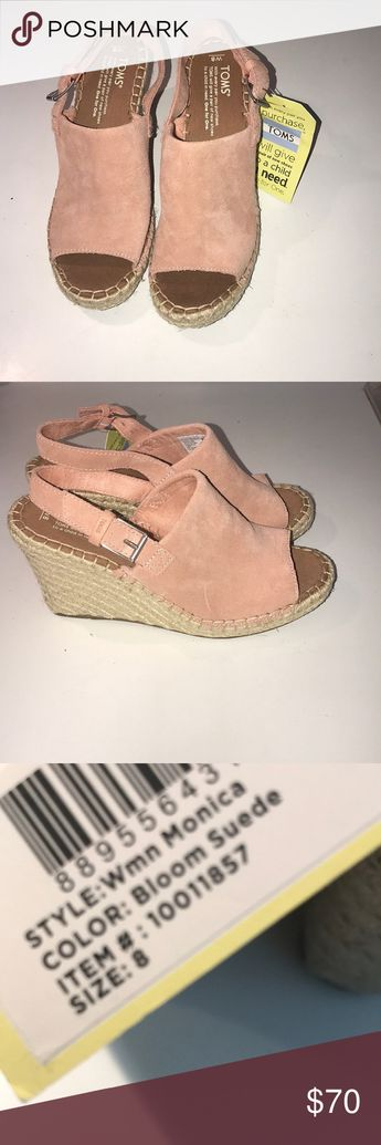 b55e527b9a2 💕NWT TOMS Monica Wedges in Bloom Pink💕 Gorgeous Suede Pink NWT Toms Shoes  Wedges
