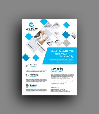 Venice Elegant Professional Business Flyer Template - Graphic Templates